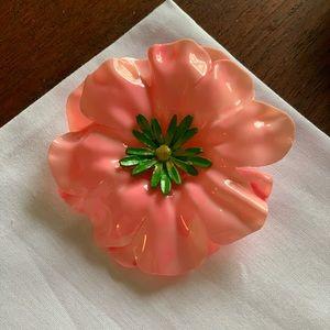 Vintage Large Flower Brooch Pin